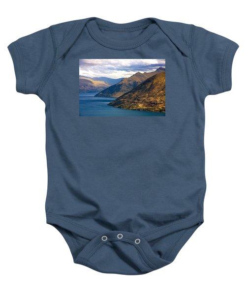Mountains Meet Lake Baby Onesie