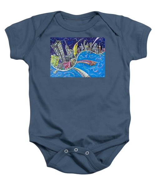 New York City Nights Baby Onesie by Jason Gluskin