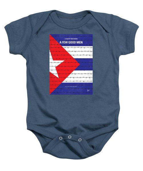 No417 My A Few Good Men Minimal Movie Poster Baby Onesie by Chungkong Art