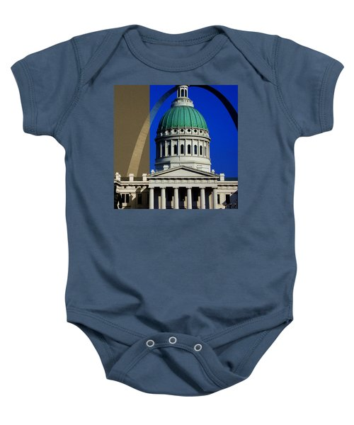 Old Courthouse Dome Arch Baby Onesie