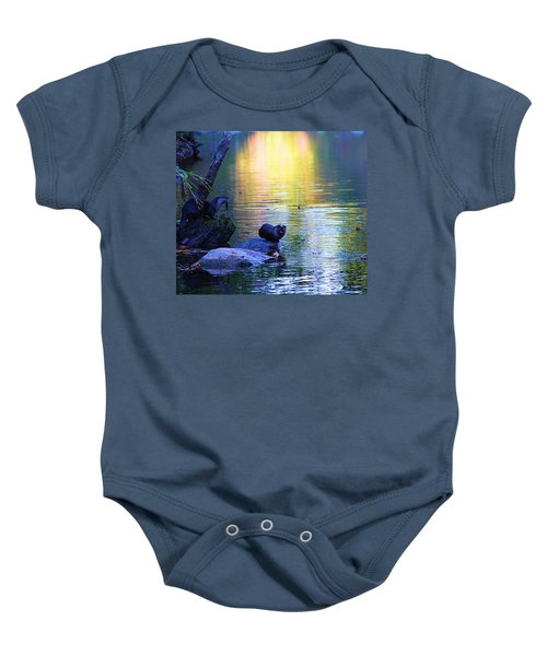 Otter Family Baby Onesie by Dan Sproul