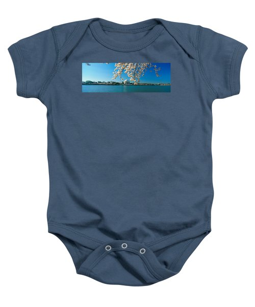 Panoramic View Of Jefferson Memorial Baby Onesie by Panoramic Images