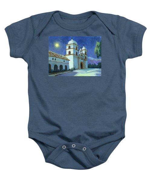 Santa Barbara Mission Moonlight Baby Onesie