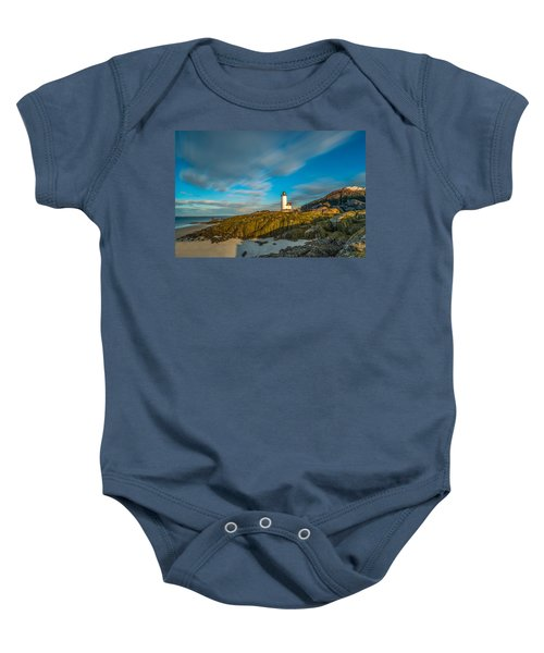 Seaweed Swagger And Time Traveling Clouds  At Annisquam Harbor L Baby Onesie
