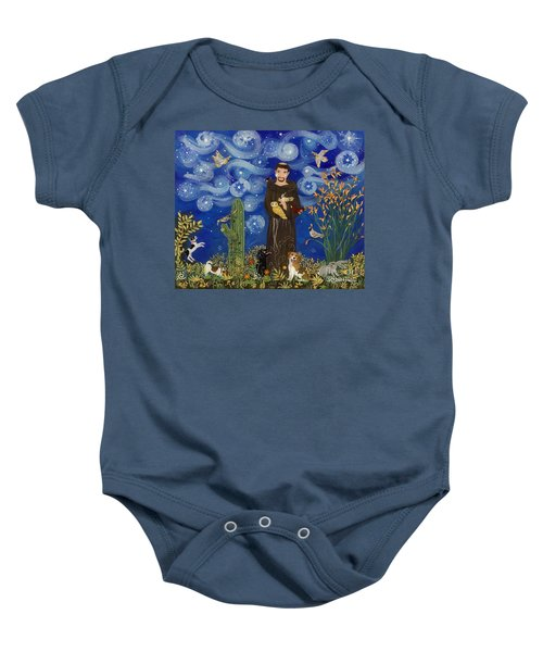 St. Francis Starry Night Baby Onesie