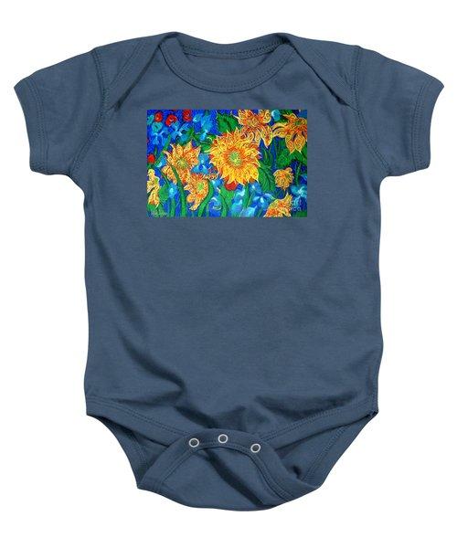 Symphony Of Sunflowers Baby Onesie