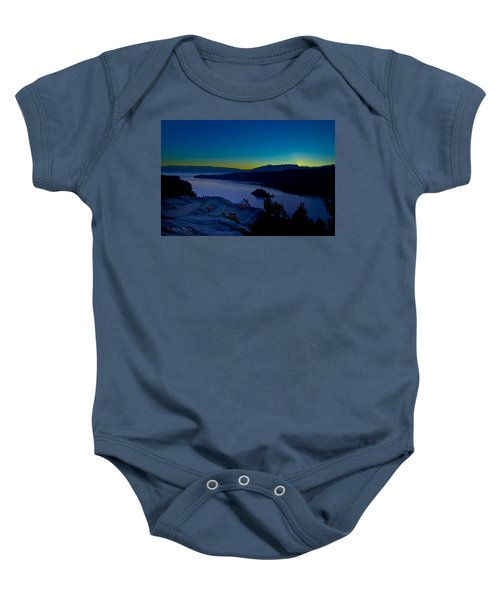 Baby Onesie featuring the photograph Tahoe Sunrise by Jim Thompson