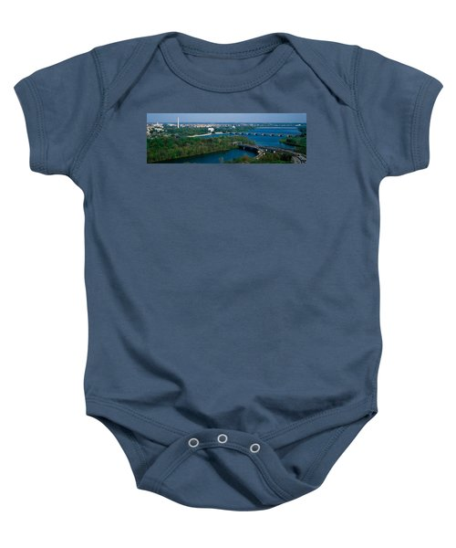 This Is An Aerial View Of Washington Baby Onesie by Panoramic Images