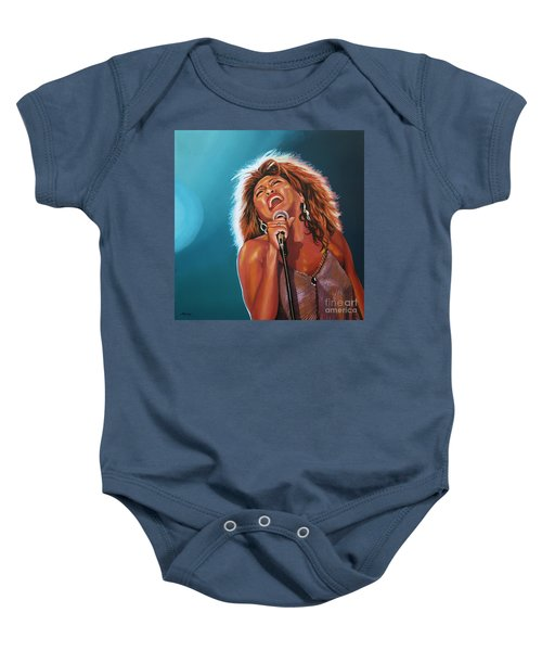 Tina Turner 3 Baby Onesie by Paul Meijering