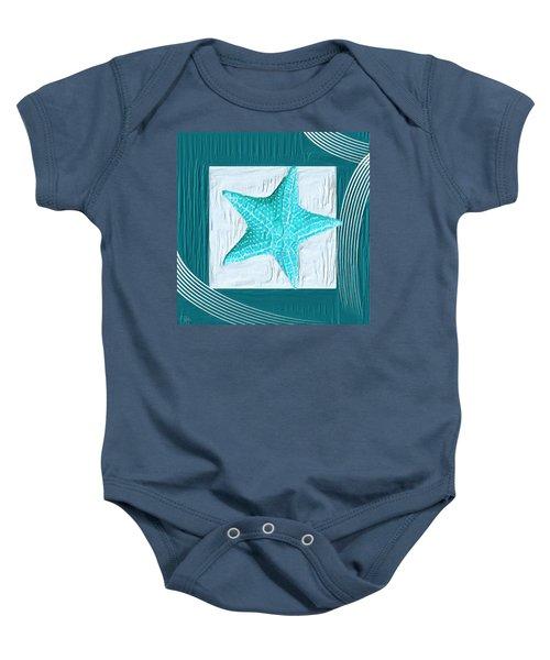 Turquoise Seashells Xviii Baby Onesie