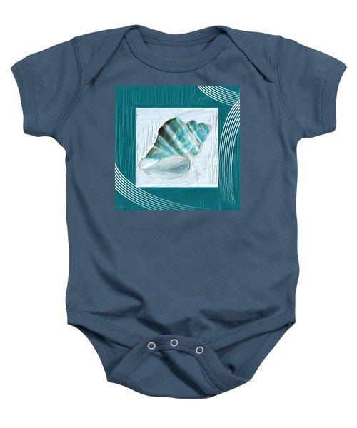 Turquoise Seashells Xxii Baby Onesie