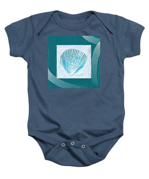 Turquoise Seashells Xxiii Baby Onesie