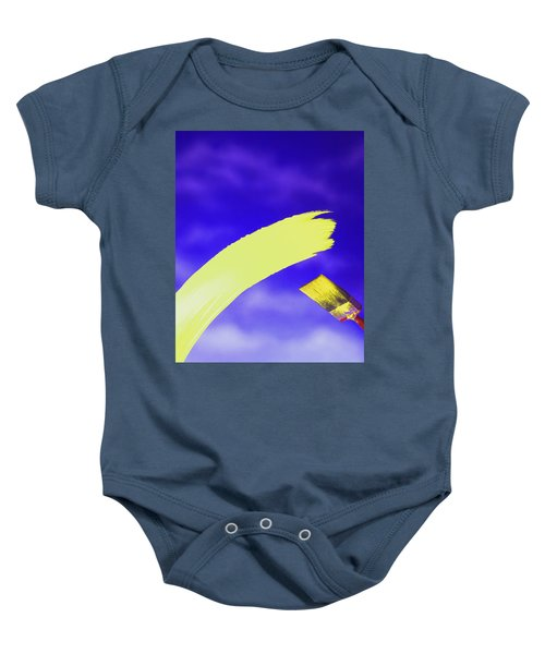 Yellow And Blue Baby Onesie