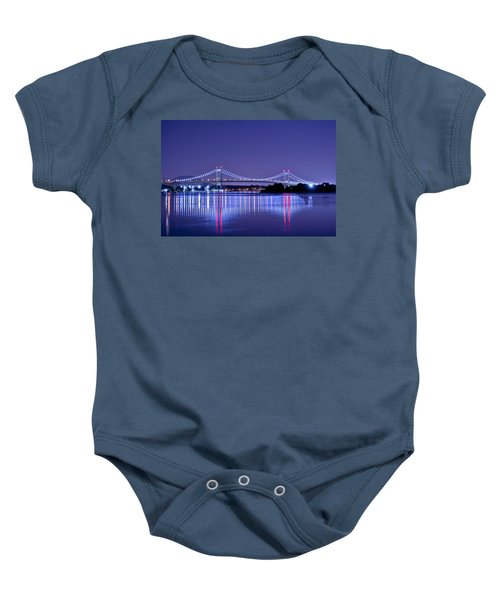 Tri-borough Bridge In Nyc Baby Onesie