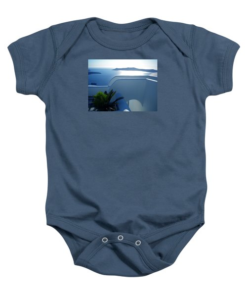 Baby Onesie featuring the photograph Peaceful Sunset Santorini by Colette V Hera  Guggenheim