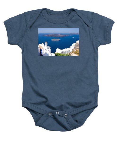 Santorini Cruising Baby Onesie