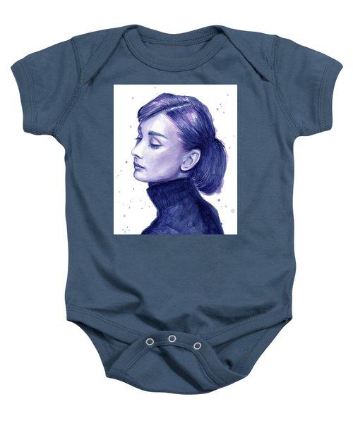 Audrey Hepburn Portrait Baby Onesie by Olga Shvartsur
