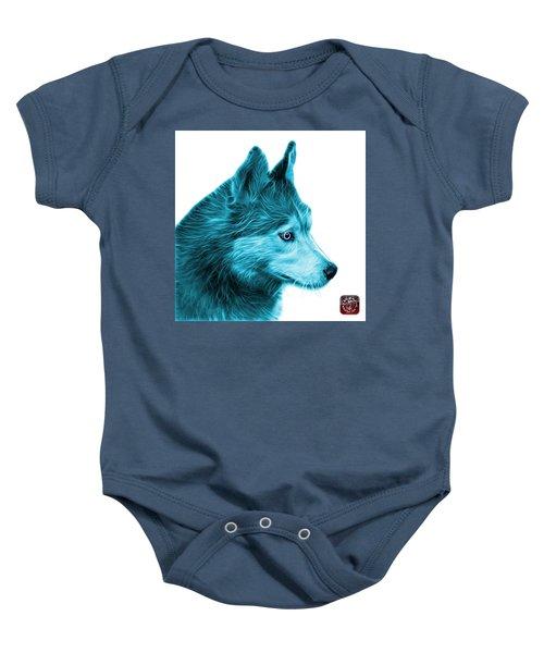 Cyan Siberian Husky Art - 6048 - Wb Baby Onesie