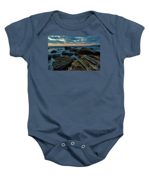 Last Light At Crystal Cove Baby Onesie