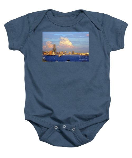 View Of Kaohsiung City At Sunset Time Baby Onesie