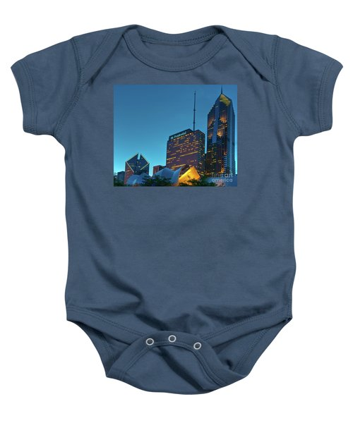 A View From Millenium Park At Dusk Baby Onesie