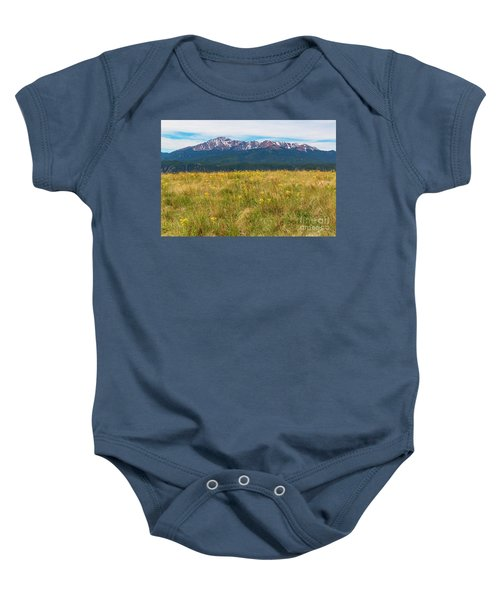 Wildflowers And Pikes Peak Baby Onesie