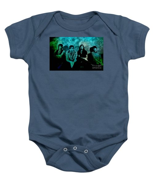 Baby Onesie featuring the mixed media Kings Of Leon by Marvin Blaine