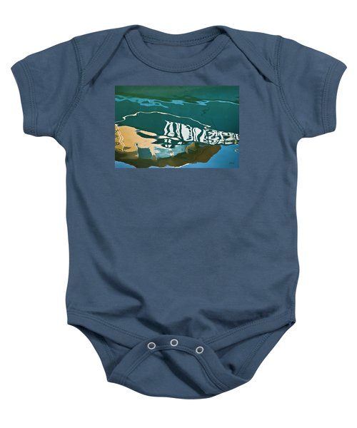 Abstract Boat Reflection Baby Onesie