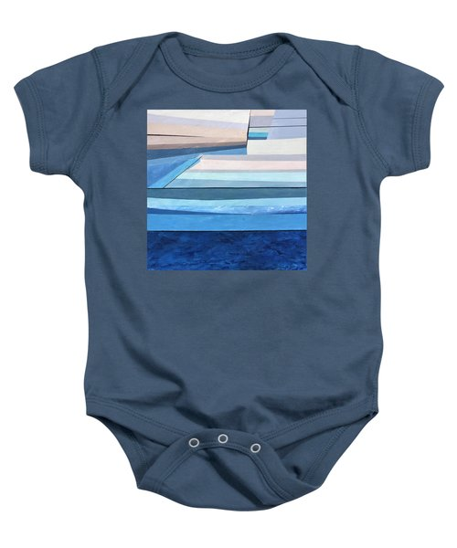 Abstract Swimming Pool Baby Onesie