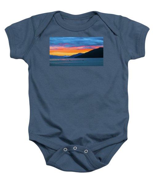 Alaska Fishermans Sunset Baby Onesie