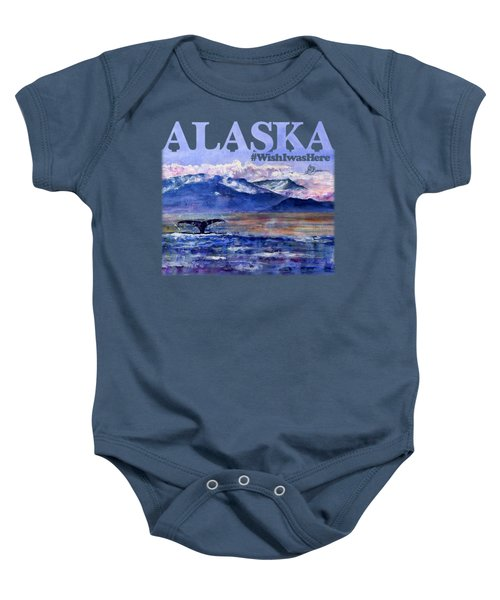 Alaskan Landscape On Water Shirt Baby Onesie