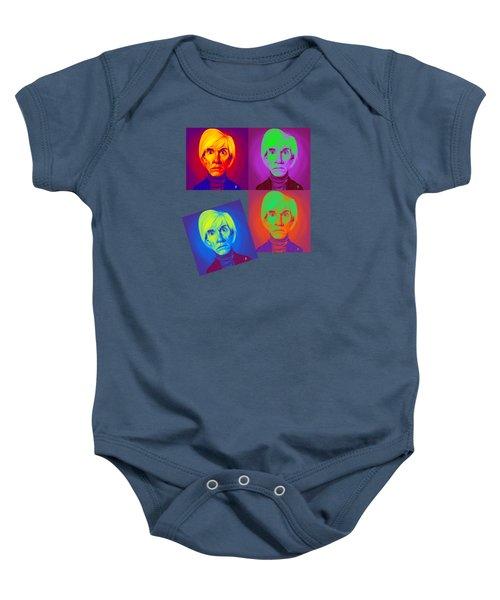 Andy Warhol On Andy Warhol Baby Onesie