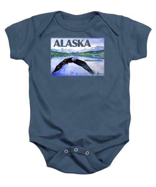 Bald Eagle Over Ocean Shirt Baby Onesie