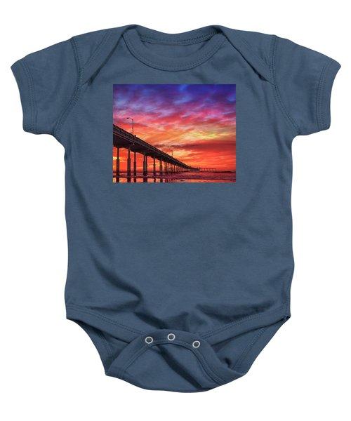 Beach Sunset Ocean Wall Art San Diego Artwork Baby Onesie
