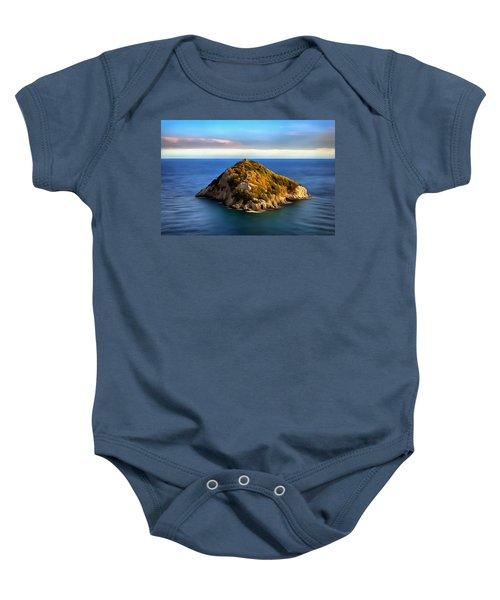 Bergeggi Island Baby Onesie