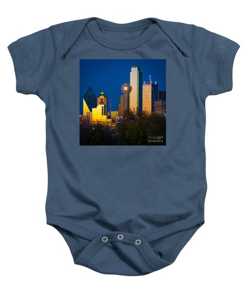 Big D Up Close Baby Onesie by Inge Johnsson