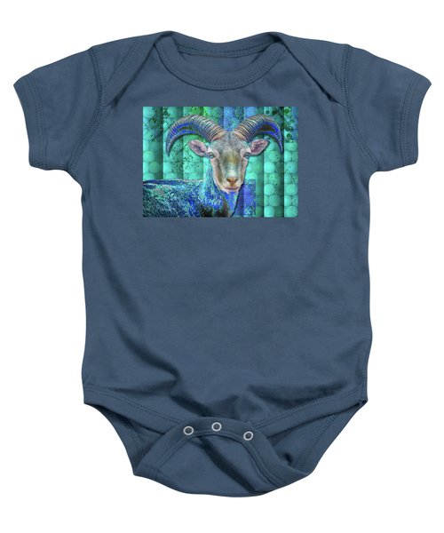 Billy Goat Blue Baby Onesie