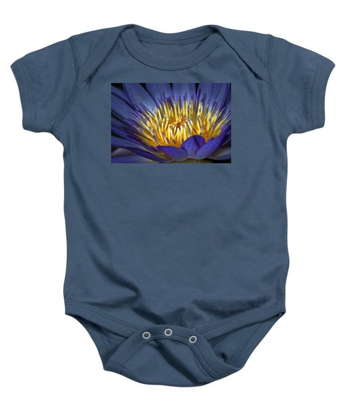 Blue And Yellow Baby Onesie