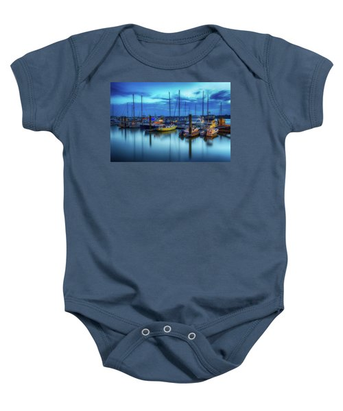 Boats In The Bay Baby Onesie