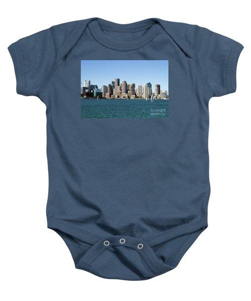 Boston City Skyline Baby Onesie