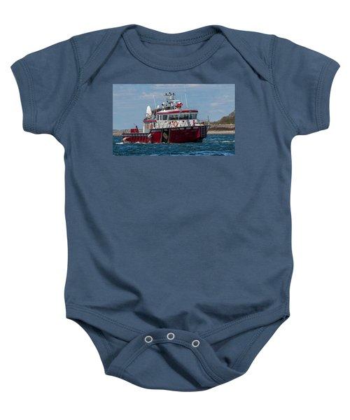 Boston Fire Rescue Baby Onesie
