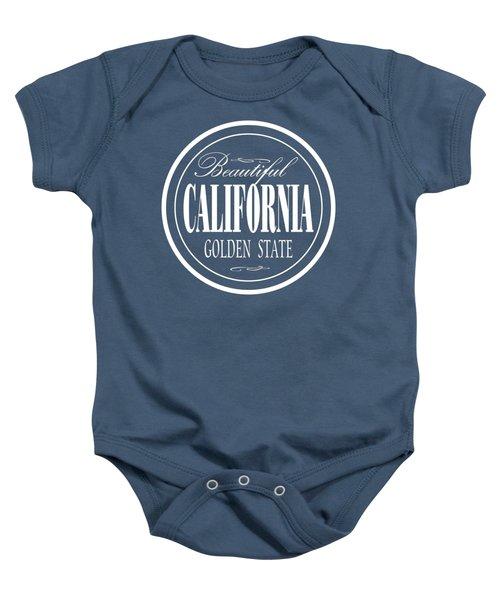 California Golden State Design Baby Onesie
