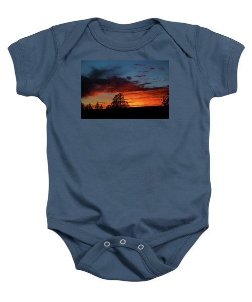 Canvas For A Setting Sun Baby Onesie
