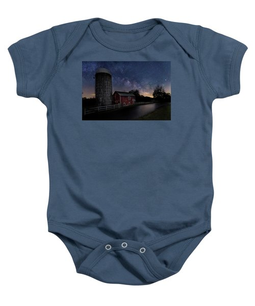 Baby Onesie featuring the photograph Celestial Farm by Bill Wakeley