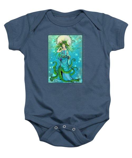 Cephalopod Princess Baby Onesie by Katherine Nutt