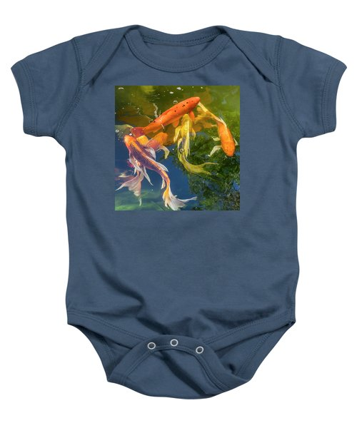 Circle Of Koi Baby Onesie