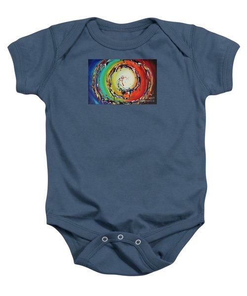 Colorful Swirls Baby Onesie