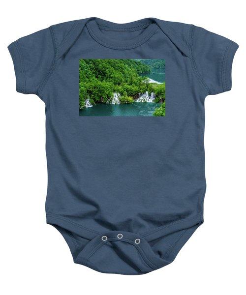Connected By Waterfalls - Plitvice Lakes National Park, Croatia Baby Onesie