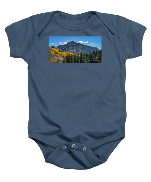 Crested Butte Mountain Baby Onesie