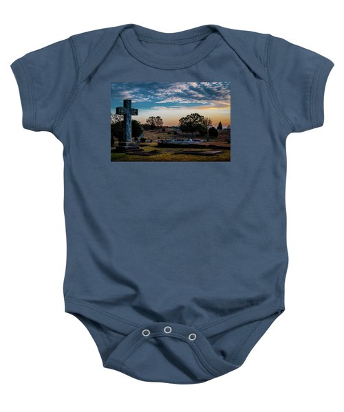 Cross At Sunset Baby Onesie